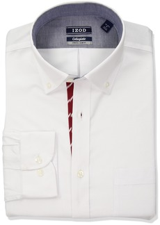 IZOD Men's Slim Fit Collegiate Red Dress Shirt
