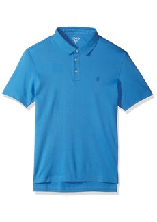 IZOD Men's Solid Interlock Polo Shirt bright blue revival