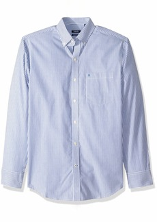 IZOD Men's Striped Essential Woven Shirt mazarine blue RP  Slim