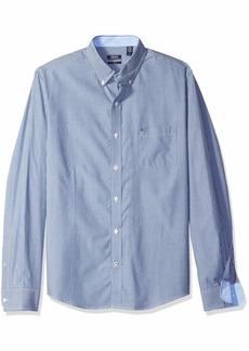 IZOD Men's Striped Essential Woven Shirt stripe estate blue