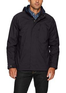 IZOD Men's Water Resistant Midweight Jacket with Polar Fleece Lining  L