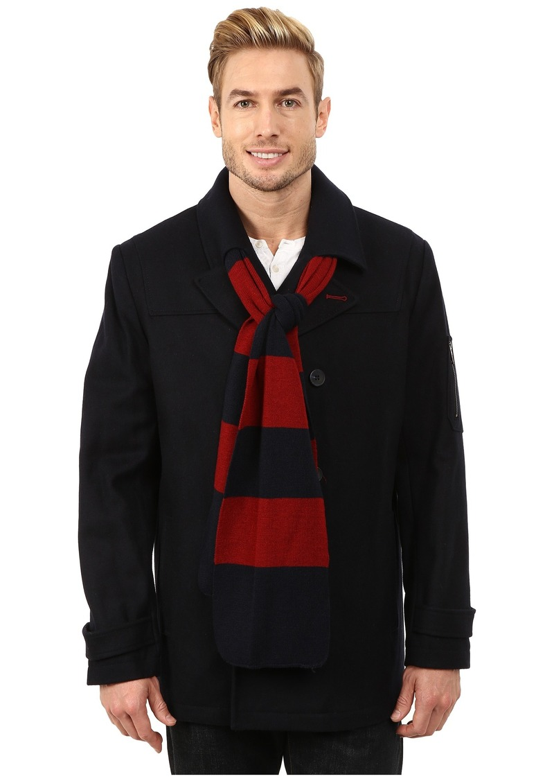 IZOD Peacoat with Rugby Scarf