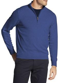IZOD Premium Essentials Quarter-Zip Cotton Sweater