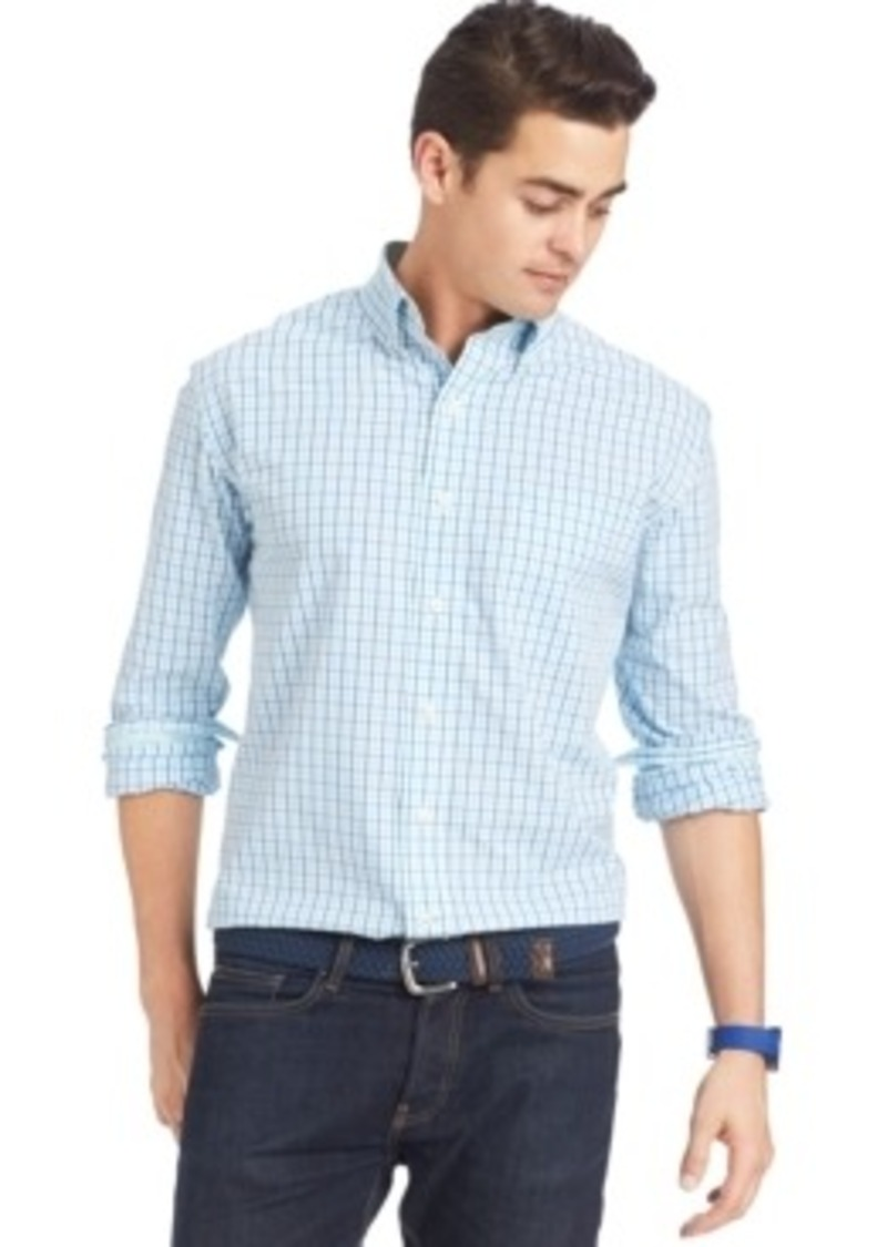 On sale today izod izod tattersall button down shirt for Izod button down shirts
