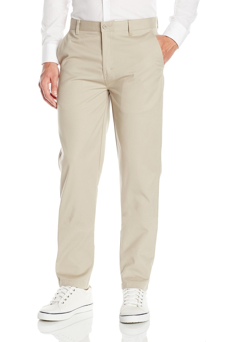 IZOD Uniform Men's Young Modern Fit Flat Front Twill Pant  36x30