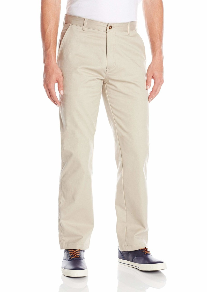 IZOD Uniform Men's Young Classic Fit Flat Front Twill Pant beige 34x32