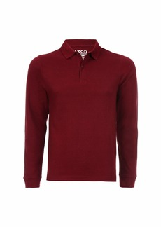 IZOD Uniform Men's Young Long Sleeve Pique Polo  (36/37)