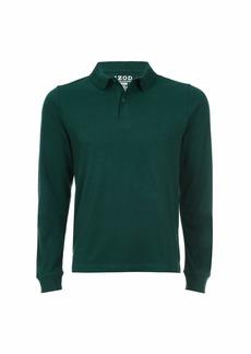 IZOD Uniform Men's Young Long Sleeve Pique Polo  (40/41)