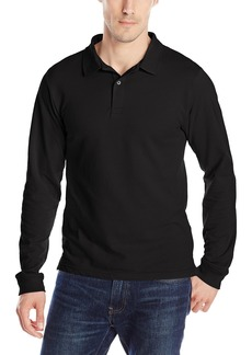 IZOD Uniform Young Men's Long Sleeve Pique Polo