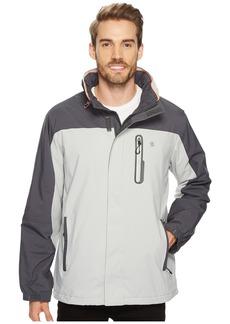 Izod Polar Fleece Lined Active Jacket with Hidden Hood