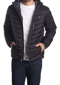Izod Quilted Puffer Hoodie Jacket