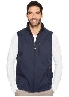 Izod Reversible Water Resistant Nylon/Fleece Vest with Zipper Pockets