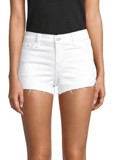 J Brand 1044 Mid-Rise Frayed Hem Cutoff Shorts