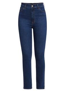 J Brand 1212 Runway High-Rise Slim-Fit Straight-Leg Jeans