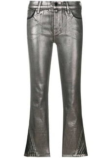 J Brand 3 Foiled cropped skinny trousers