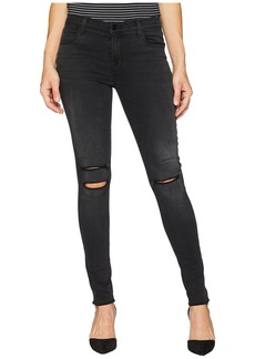 J Brand 620 Mid-Rise Super Skinny Jeans in Nevermore Destruct