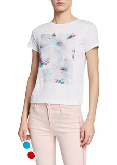 J Brand 811 Floral 3D Graphic Cotton Tee