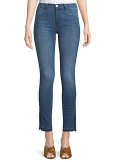 J Brand 811 Mid-Rise Released-Hem Skinny Jeans