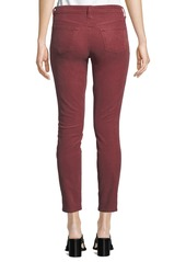 J Brand 811 Mid-Rise Skinny Corduroy Jeans  Wine
