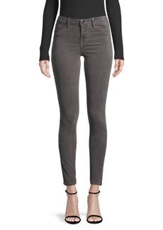 J Brand 815 Mid-Rise Velvet Super Skinny Jeans