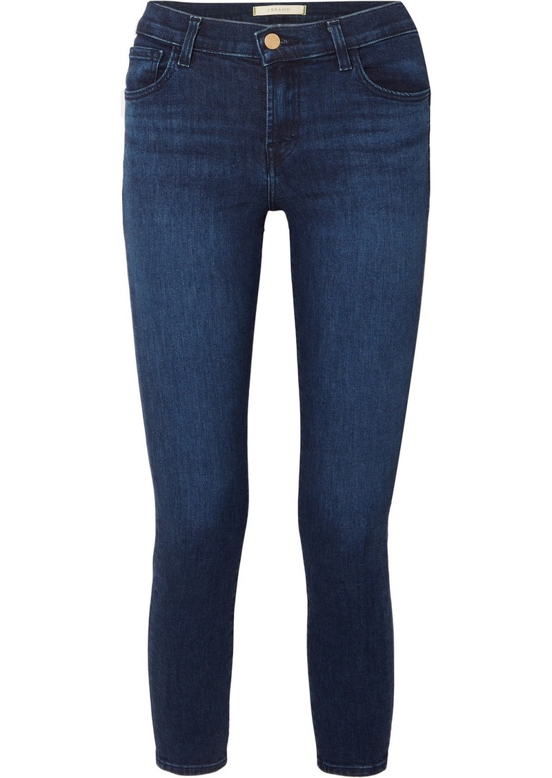 J Brand 835 Cropped Mid-rise Stretch Skinny Jeans