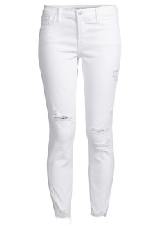 J Brand 835 Mid Rise Crop Distressed Skinny Jeans
