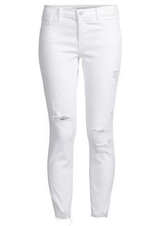 J Brand 835 Mid Rise Crop Distressed Skinny Jeans