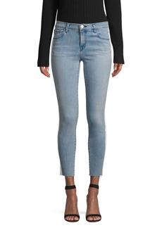 J Brand 835 Mid-Rise Racing Stripe Crop Skinny Jeans