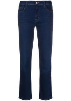 J Brand Adele cropped straight-leg jeans