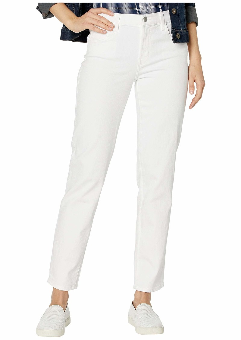 J Brand Adele Mid-Rise Straight in Blanc