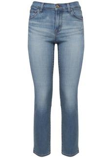 J Brand Adele Mid Waist Straight Leg Jeans