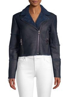 J Brand Aiah Shearling Moto Jacket