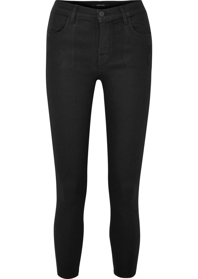 J Brand Alana Coated High-rise Skinny Jeans