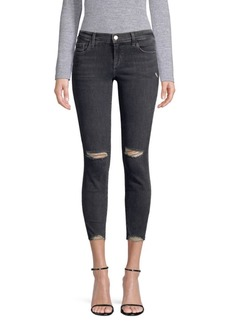 J Brand Alana High-Rise Destroyed Skinny Jeans