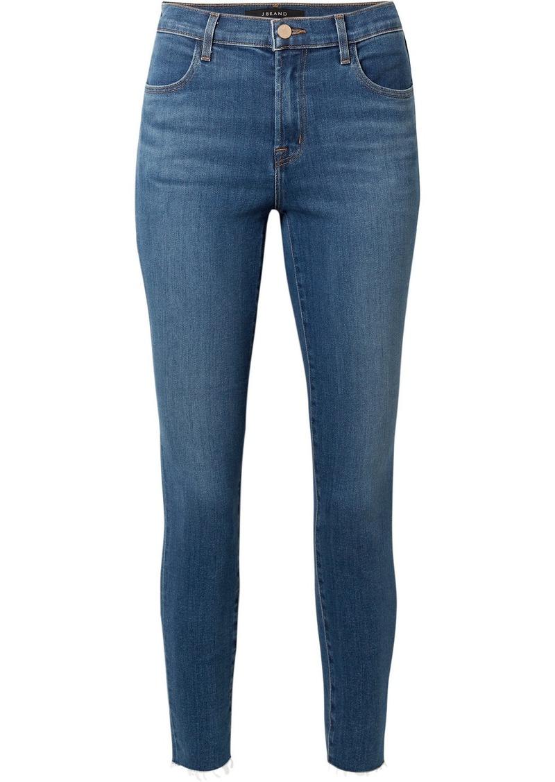 J Brand Alana Cropped Frayed High-rise Skinny Jeans