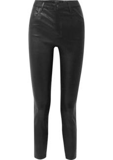 J Brand Alana Cropped Leather Skinny Pants
