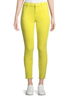 J Brand Alana Cropped Skinny Jeans w/ Frayed Hem