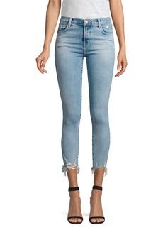 J Brand Alana Distressed Hem Skinny Jeans