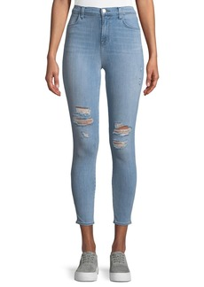 J Brand Alana Distressed High-Rise Jeans