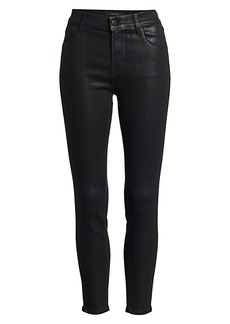 J Brand Alana High-Rise Coated Crop Skinny Jeans