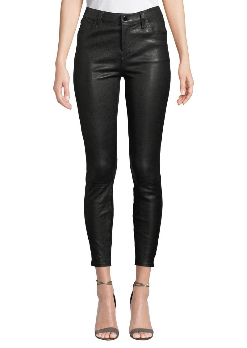 J Brand Alana High-Rise Crop Leather Skinny Pants