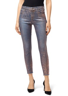 J Brand Alana High-Rise Crop Skinny with Snake Foil Finish