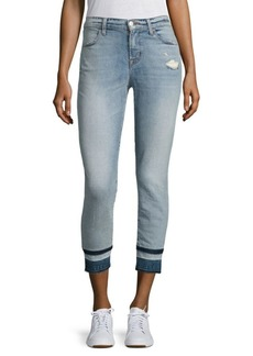 Alana High-Rise Cropped Released Hem Skinny Jeans