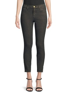J Brand Alana High-Rise Glimmer Cropped Skinny Jeans
