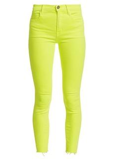 J Brand Alana High-Rise Neon Crop Skinny Jeans