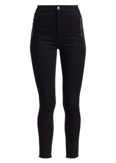 J Brand Alana High-Rise Zip Crop Skinny Jeans