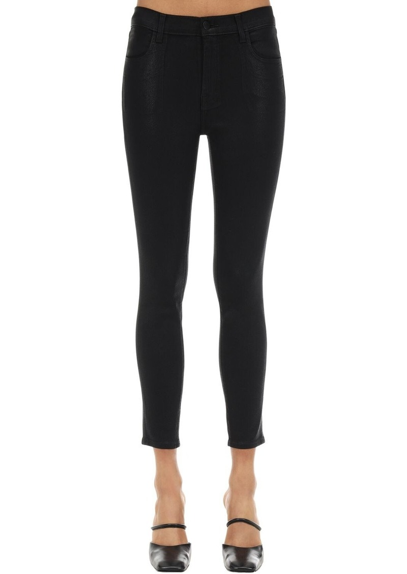 J Brand Alana High Skinny Coated Denim Jeans
