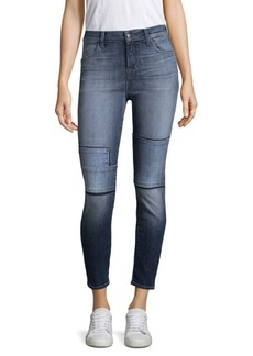 J Brand Alana High-Rise Tonal Patch Jeans
