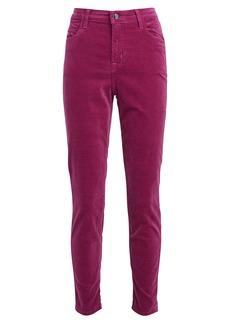 J Brand Alana Velvet High-Rise Skinny Pants