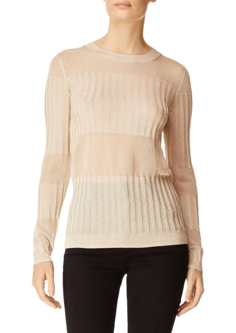 J Brand Andrea Ribbed Metallic Sweater